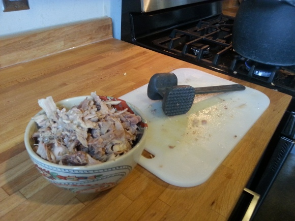 I filled a whole cereal bowl with meat picked off the carcass!
