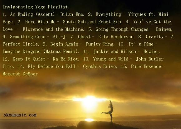 invigorating yoga playlist mandy learo