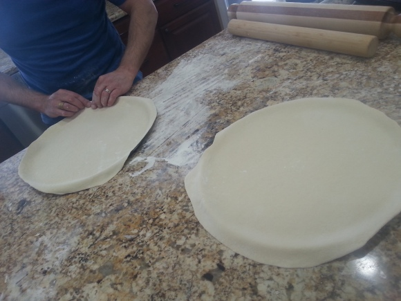 dough rolled out mandy learo