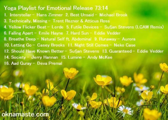 yoga playlist for emotional release mandy learo