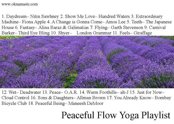 peaceful flow yoga playlist