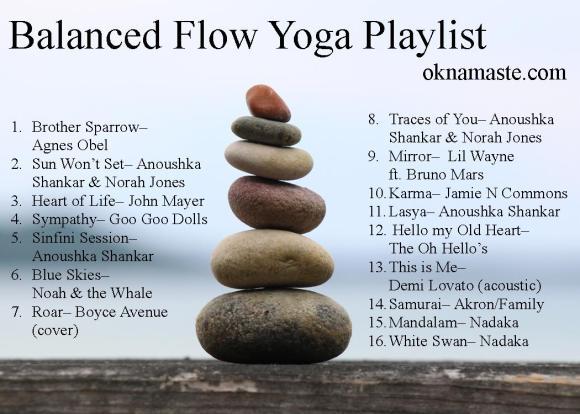 balanced flow yoga playlist
